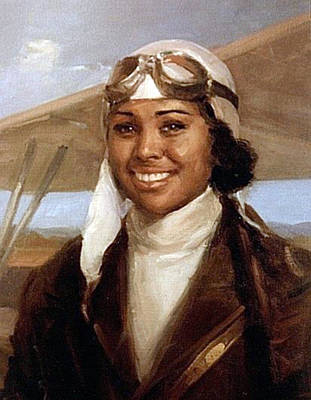 Flyers Painting - Bessie Coleman, American Aviator by Science Source
