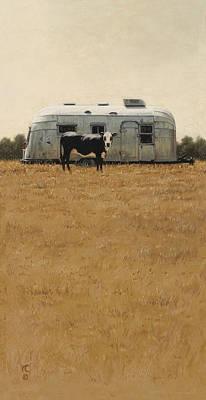 Bessie Wants To Travel Original by Ron Crabb