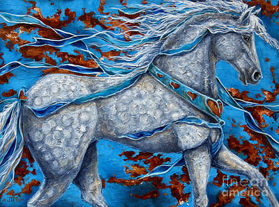 Contemporary Horse Painting - Best Of Show by Jonelle T McCoy