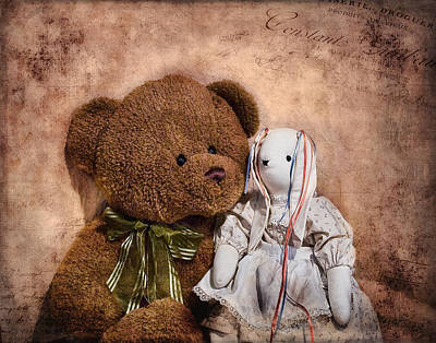 Teddy Bear Photograph - Besties by Tom Mc Nemar
