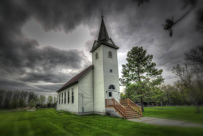 Bethany Prairie Church Print by David Foster