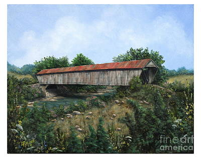 Covered Bridge Painting - Bethel-new Hope Covered Bridge Brown County Ohio by Rita Miller