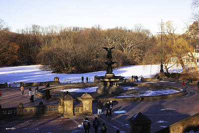 Bethesda Fountain 2013 - Central Park - Nyc Print by Madeline Ellis