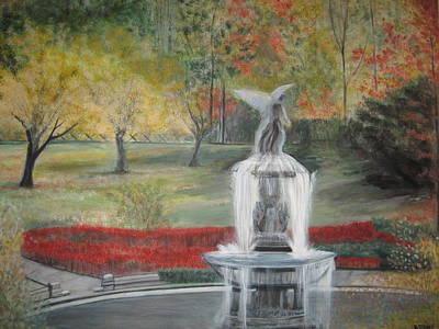 Rick Todaro Painting - Bethesda Fountain  Central Park by Rick Todaro