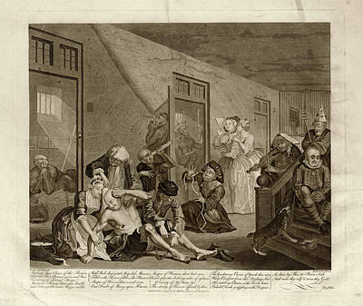 Bethlehem Royal Hospital Print by Museum Of The History Of Science/oxford University Images