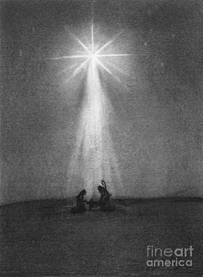Shine Drawing - Bethlehem's Star by J Ferwerda