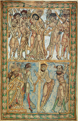Betrayal And Flagellation Print by British Library
