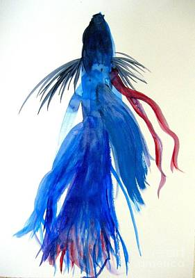 Betta Fish Watercolor Print by Jennifer Gaida