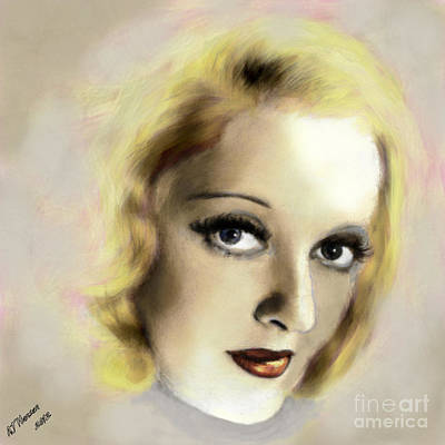 Bette Davis Eyes Print by Arne Hansen