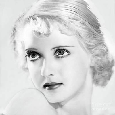 Bette Davis Eyes Print by Maureen Tillman
