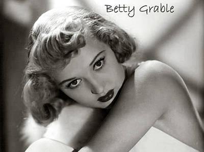 Three Sisters Digital Art - Betty Grable by Studio Release