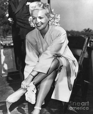 Grable Photograph - Betty Grable, Us Actress by Hagley Archive
