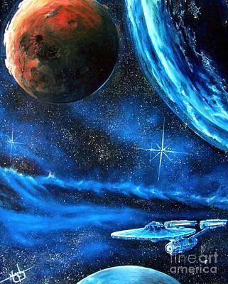 Cosmic Space Painting - Between Alien Worlds by Murphy Elliott