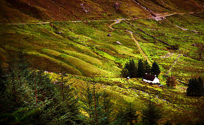Nature Photograph - Between Mighty Mountains. Rest And Be Thankful. Scotland by Jenny Rainbow