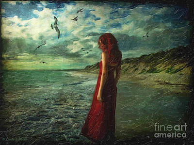 Between Sea And Shore Print by Lianne Schneider