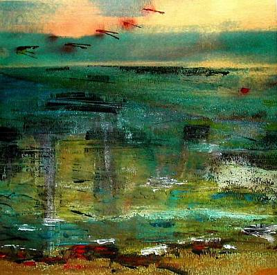 Between Sky And Sea Print by Agnes Trachet