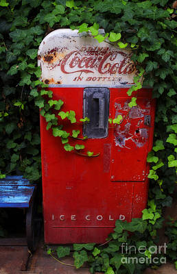 Design With Photograph - Austin Texas - Coca Cola Vending Machine - Luther Fine Art by Luther   Fine Art