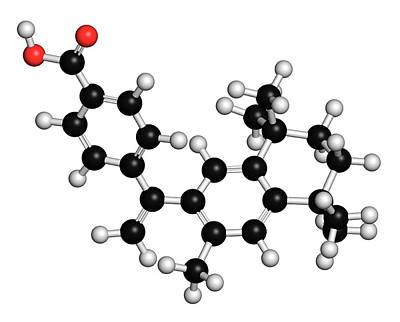 Chemical Photograph - Bexarotene Cancer Drug Molecule by Molekuul