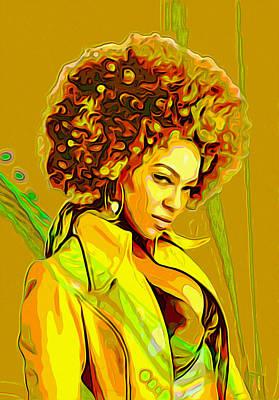 Beyonce Painting - Beyonce 2 by  Fli Art