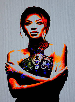 Jay Z Digital Art - Beyonce 3 by Brian Reaves