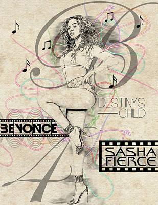 Beyonce Digital Art - Beyonce by Anibal Diaz
