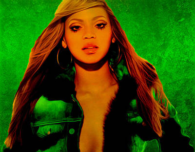 Jay Z Painting - Beyonce II by Brian Reaves