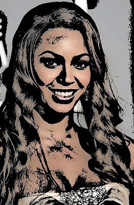 Songstress Digital Art - Beyonce by Tanysha Bennett-Wilson