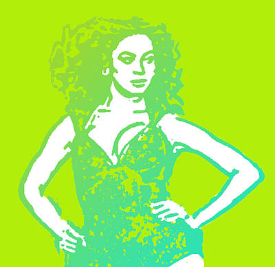 Jay Z Digital Art - Beyonce With Lime To Go by Tommy Midyette
