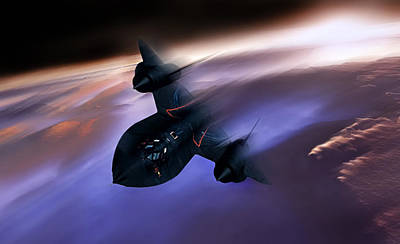 Blackbird Digital Art - Beyond Mach 3 by Peter Chilelli