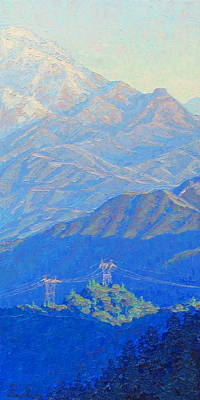 Plein Air Painting - Beyond Mt. Wilson by Elena Roche