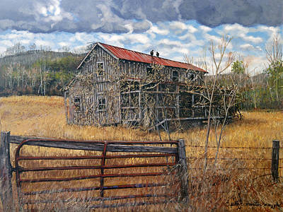 Egg Tempera Painting - Beyond The Gate by Peter Muzyka