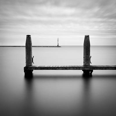 Zeeland Photograph - Beyond The Jetty by Dave Bowman
