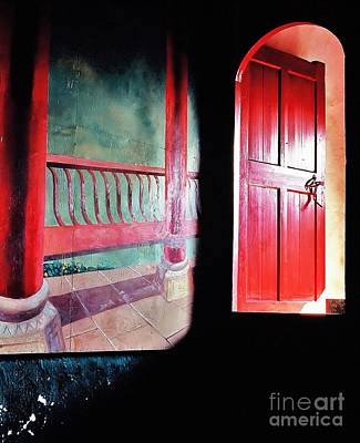 Beyond The Red Door Print by Ronnie Glover