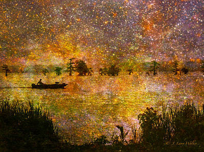 Beyond The Reeds Print by J Larry Walker