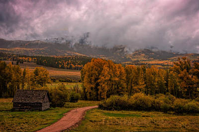 Log Cabin Art Photograph - Beyond The Road by Ken Smith