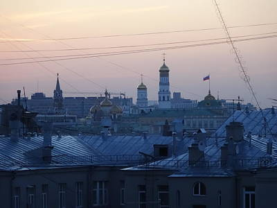 Moscow Skyline Photograph - Beyond The Rooftops by Anna Yurasovsky