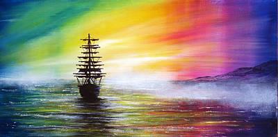 Sea Painting - Beyond The Sea by Ann Marie Bone