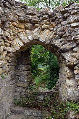 Abandoned Photograph - Beyond The Stone Wall At Leeds Castle by Carla Parris