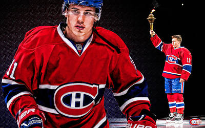 Montreal Canadiens Digital Art - Gallagher Poster 2 by Nicholas Legault