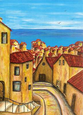 Sea View Painting - Biagi In Tuscany by Pamela Allegretto