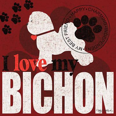 Bichon Print by Kathy Middlebrook