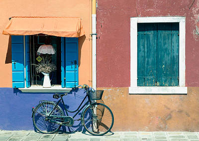 Venecia Photograph - Bicycle  by A Rey