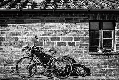 Photograph - Bicycle In Black And White by Clint Brewer