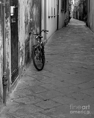Bicycle In Lucca Print by Prints of Italy