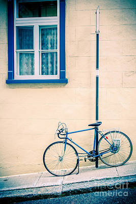 Old Stone Photograph - Bicycle On The Streets Of Old Quebec City by Edward Fielding