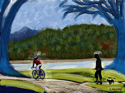 Bicycle Stripes Print by Colleen Proppe
