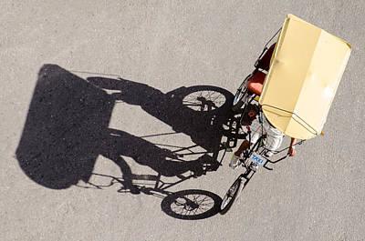 Havana Photograph - Bicycle Taxi In Havana Cuba by Rob Huntley
