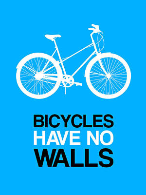 Bicycles Have No Walls Poster 2 Print by Naxart Studio