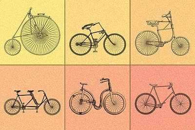 Bicycle Photograph - Bicycles Of The 19th Century by Mark Rogan