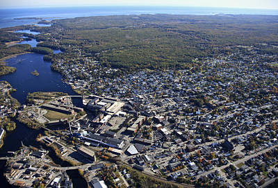 Biddeford And Saco, Maine Print by Dave Cleaveland